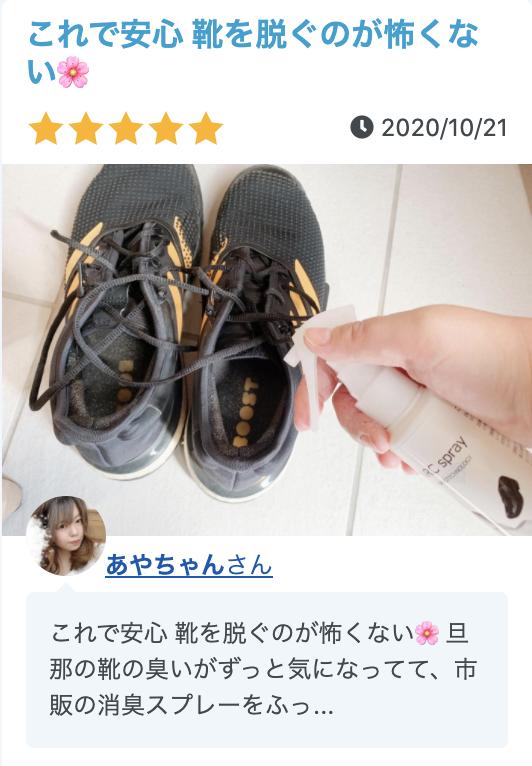 パパの靴のにおいを解決した例